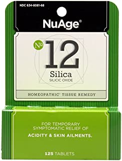 Acne and Blackhead Treatment, Hair Growth Supplement, Homeopathic Remedy by Hyland's #12 Cell Salt Silicea 6X Tablets, 125...