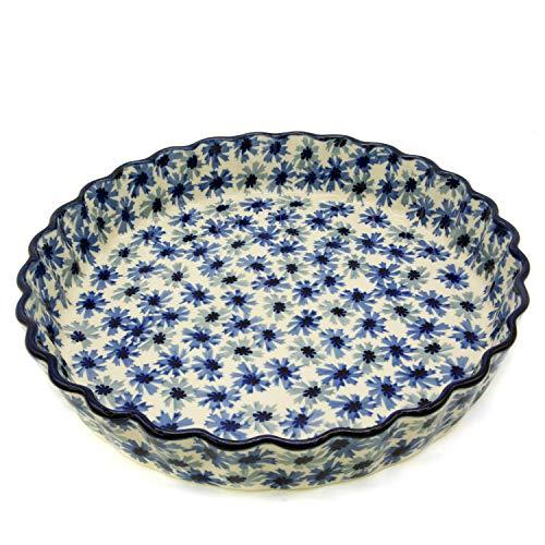 Moule à tarte en céramique multicolore 26,5 cm Décor fleurs de grains