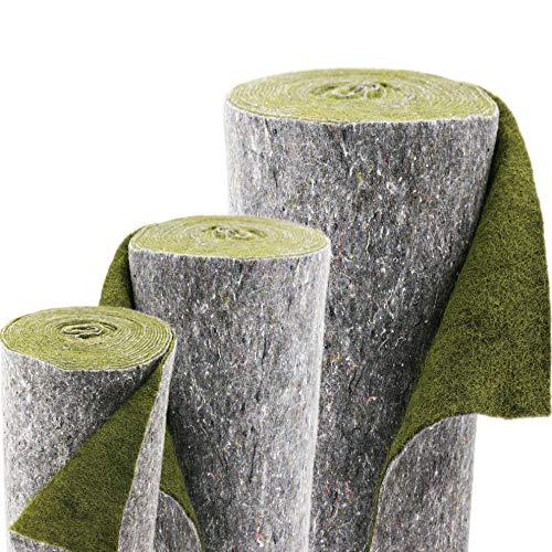 Ufermat groen 0,75m breed boeiingsmat vijverrand voor de vijverfolie verschillende afmetingen 25m x 0,75m groen