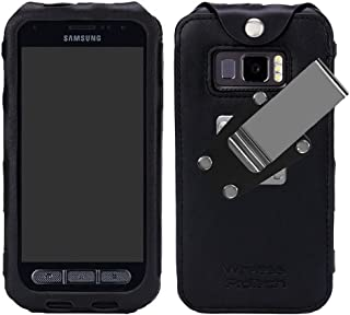 Wireless ProTech Leather Frame Fitted Case with Quad Lock Belt Clip Compatible with Samsung Galaxy XCover FieldPro -G889
