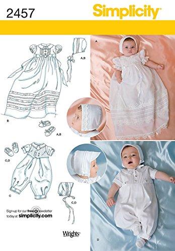 Simplicity Schnittmuster 2457 Festliche Babykleider