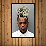 Flduod Carteles e impresionesRap Hip Hop Music Star Canvas Pictures On The Wall Modern Home Decor Obrazy-No Frame 60x80cm