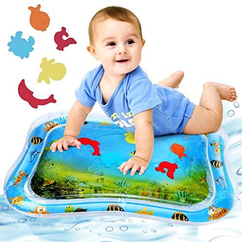 Redmoo Wassermatte Baby, Baby Spielzeuge 3 6 9 Monate, Baby Wassermatte Aufblasbare PVC Wassergefüllte Spielmatte für Kinder und Kleinkinder Spieldecke 66x50cm