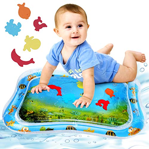 Redmoo Alfombra Inflable con Agua, Tapete de PVC a Prueba de Fugas para bebés 3 6 9 meses, Centro de Actividades Divertidas para La Estimulación del Crecimiento de Su Bebé 66x50cm