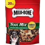 Milk-Bone Trail Mix Chewy and Crunchy Dog Treats, Beef & Sweet Potato, 20 Oz. Pouch