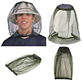 quanjucheer Mosquito Fly Insect Head Net Outdoor Angeln Face Cover Schutz Mückennetz für Wandern...