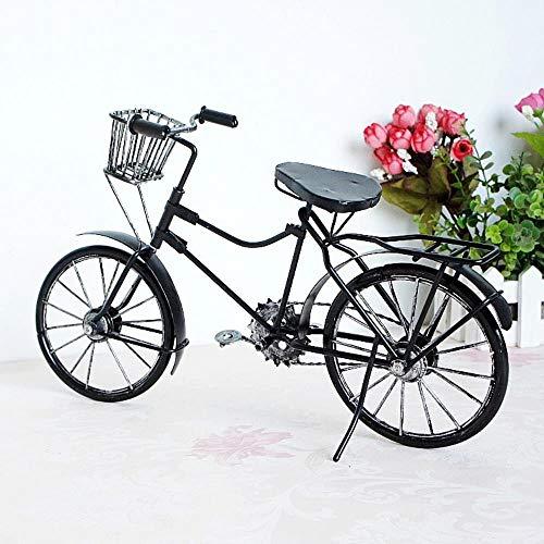 CHENSHUAI ArtigianatoinMetallo Vecchia Bicicletta Modello Vintage Vecchia Bici Modello Bicicletta Antica Ornamenti Artigianali Accessori per la casa e Ufficio, Nero