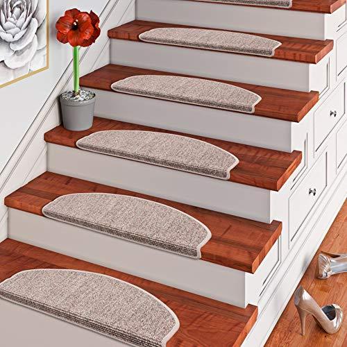 Pergamon Natur Sisal Stufenmatten Kies (halbrund) einzeln oder im 15er Set in 2 Größen