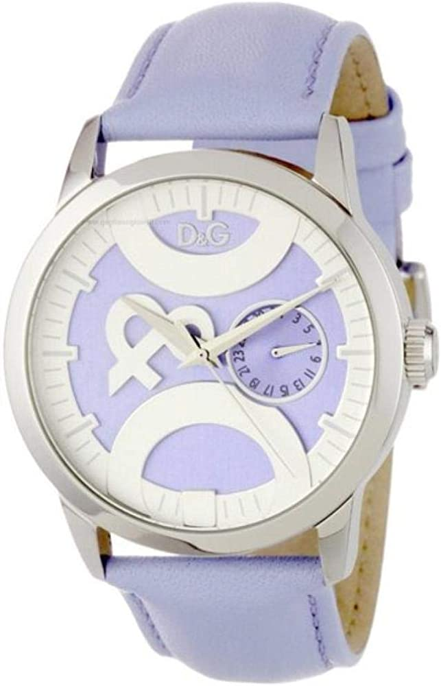 Dolce & gabbana,orologio per donna,cassa in acciaio inossidabile e cinturino in vera pelle DW0757