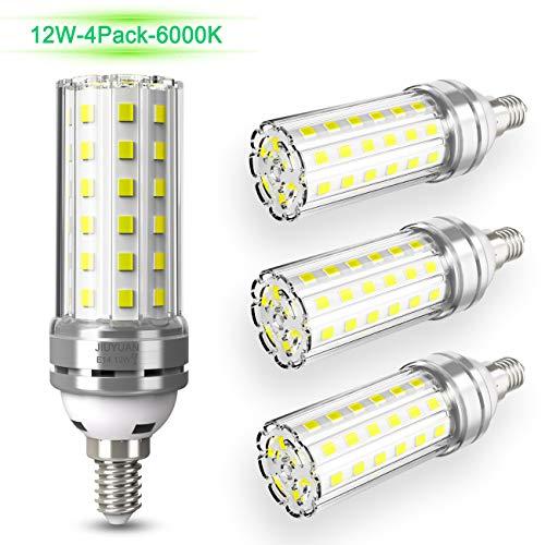 E14 LED Mais Birne 12W LED E14 Glühbirne Kaltweiß 6000K 1450LM Ersetzt Glühbirnen 100W, Edison Schraube E14 Led Lampen Kerze Licht E14 Maiskolben Led Energiesparlampe Birnen Nicht Dimmbar - 4er Pack
