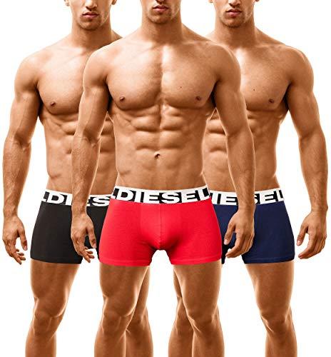 Diesel heren 3-pack boxershorts mannen Boxer Trunk ondergoed Panties multipack onderbroeken