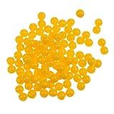 Toygogo 100 Stücke Geruch Ups Fischköder Boilies Lösliche Gelbe Schwimmende Kugel Perlen Grob Karpfen Werkzeug - 8mm