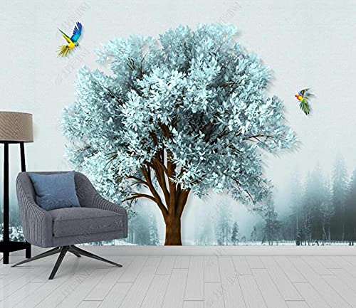 Papel Pintado Pared Papel Abstract Big Tree Forest Flying Birds Fotomurales 3d Decoración Papel Tapiz Dormitorio Sala Custom Murales Fondo Pared 400x280cm