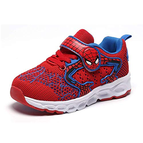 Malltea Fashion Kinder Jungen Spider-Man Sneaker Laufschuhe, rot, 8.5 UK Child/26EU