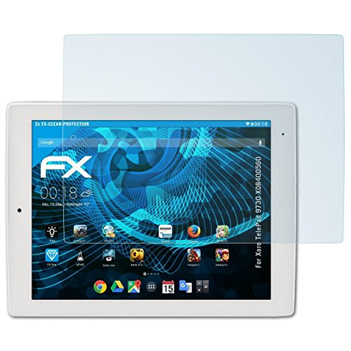 atFolix Schutzfolie kompatibel mit Xoro TelePad 9730 XOR400560 Folie, ultraklare FX Bildschirmschutzfolie (2X)