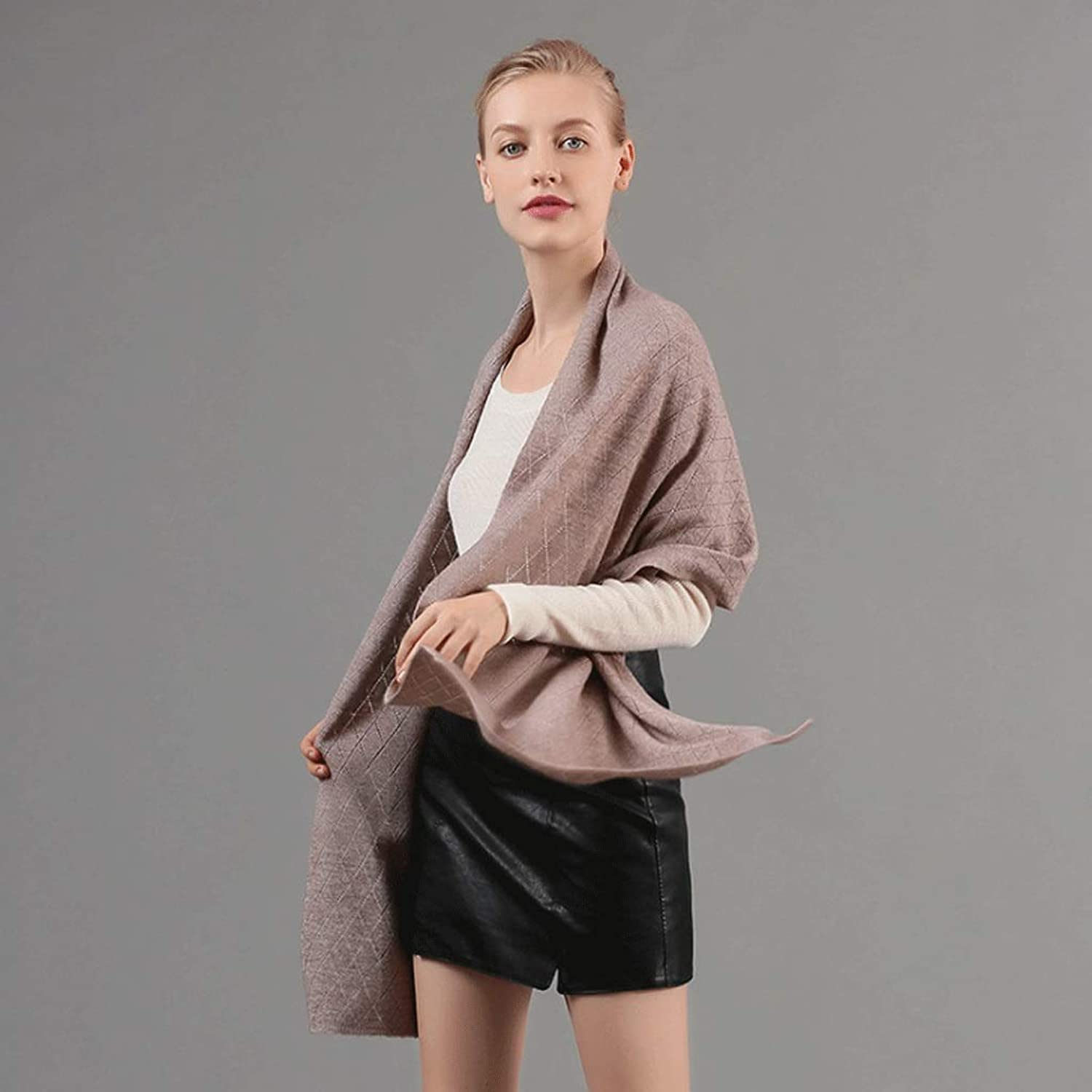 CHX Scarf Knitted Solid color Collar Thick Warm Scarf is Soft and Comfortable Unisex Feels Delicate V (color   Coffee)