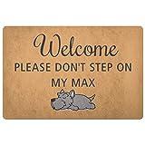 Custom Personalized Dog - Welcome Please Don't Step On My Dog Doormat - Pet's Name - Scottish Terrier Dog Doormat Rubber Non - Slip Entrance Rug Floor Mat Home - Dog Doormat