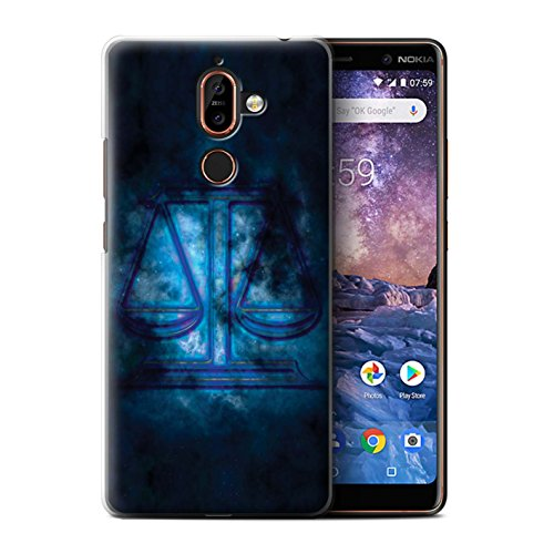Stuff4 telefoonhoesje/hoes voor Nokia 7 Plus 2018 / Weegschaal/Schaal Design/Zodiac Star Sign Collection