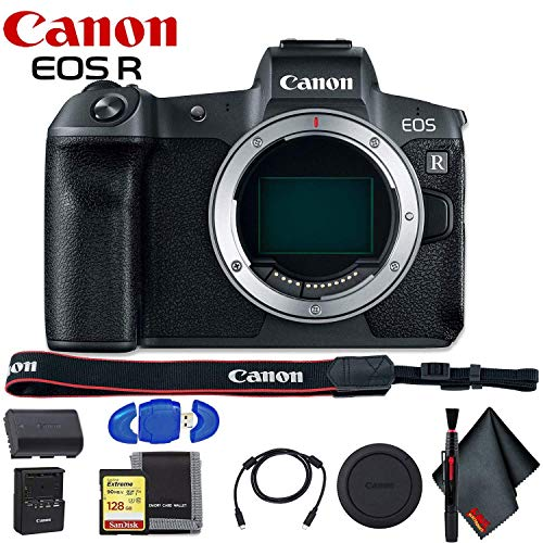 Buy Discount Canon EOS R Mirrorless Digital Camera (Body Only) - Includes - Memory Card Kit and Clea...