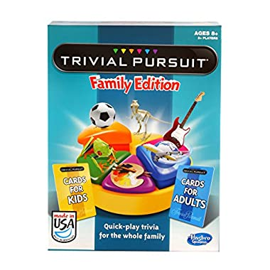 Hasbro Trivial Pursuit Family Edition Game, Game Night, Ages 8 and up (Amazon Exclusive)