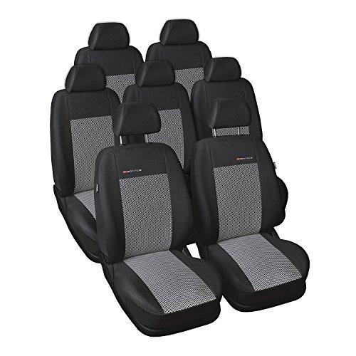 P2 - Fundas de Asiento de Coche para Opel Zafira A Facelifting 7-Seats 2003-2005