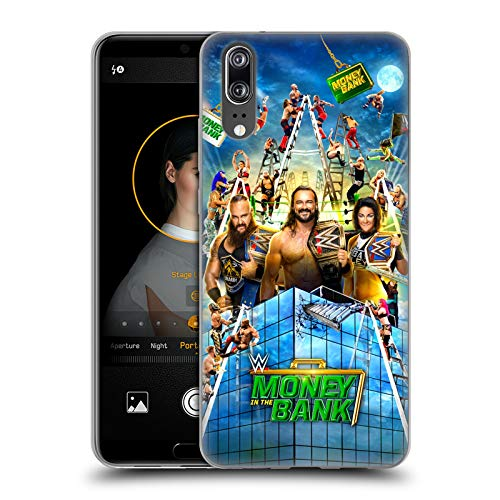 Head Case Designs Offizielle WWE Braun, Drew & Bayley 2020 Money In The Bank Soft Gel Huelle kompatibel mit Huawei P20