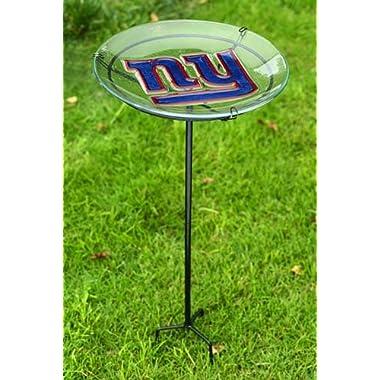 NFl Staked Bird Bath NFL Team: New York Giants