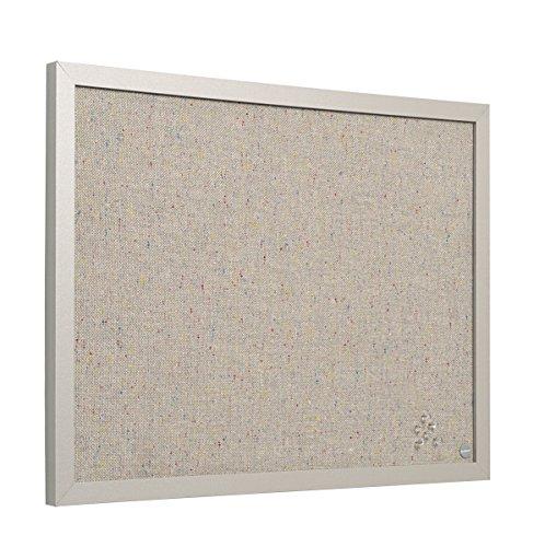 Bi-Office Pannello Per Avvisi Lavender, Cornice in MDF Perla, Bacheca Per L'Uso Con Puntine, 60x45, In Tessuto Perla