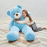 MaoGoLan Giant Blue Teddy Bear Big Blue Teddy Bears Stuffed Animals for Boys and Girls 55 Inches
