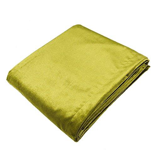 McAlister Textiles Camino de cama de terciopelo brillante, 50 cm x 220 cm, color verde lima, suave para decoración de ropa de cama, 20 x 220 cm
