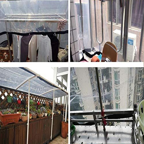 XUERUI afdekzeil, waterdicht, PVC, balkon, ramen, winddicht, zeildoek, dikte 0,3 mm