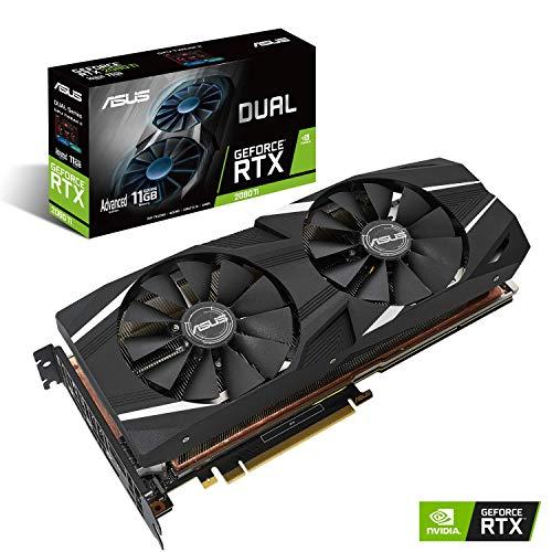 ASUS NVIDIA GeForce RTX 2080 Ti DUAL OC 11G Gaming Grafikkarte (PCIe 3.0, 11GB DDR6 Speicher, HDMI, Displayport, USB Type-C)