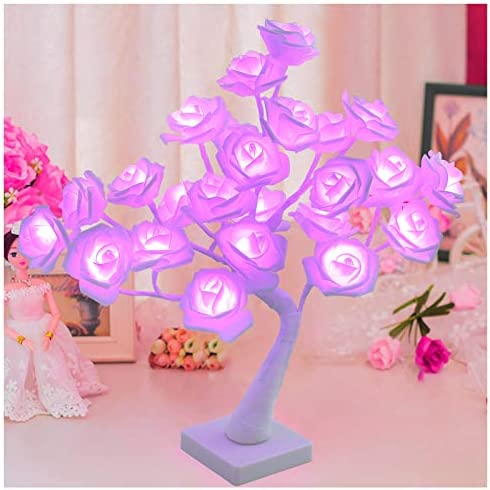 Micozy Rose Tree Lamp Cute Rose Lamp for Girl 24LED Fairytale Rose Bud Tree Light for Valentine product image