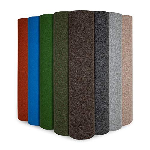 Rasenteppich Farbwunder Park | Balkonteppich | Strapazierfähig & witterungsbeständig | Erhältlich in 8 Farben | Kunstrasenteppich für Terrasse, Balkon und Freizeit | Outdoor (Moosgrün, 200 x 150 cm)
