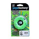 YoyoFactory Yo-Yo Cuerda DE Repuesto - 10 Piezas, 100% Poliéster, Verde Color, para Todos Los Yoyos