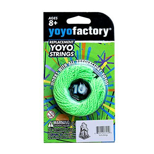 YoyoFactory Yo-Yo FICELLES DE Replacement - 100% Polyester, 10 Piéces, Vert Couleur, Convient à Tous Les Yoyos
