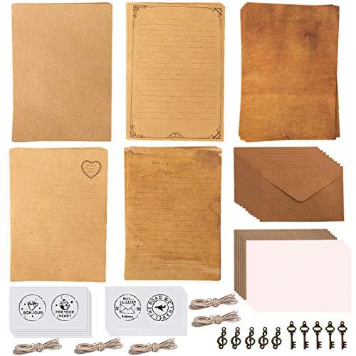 Vintage Briefpapier und Umschläge Set,Vintage Schreibwaren Sets,Vintage Schreiben Briefpapier,Vintage Briefpaier,Briefpapierset,für Briefe,Geschenke,Liebesbrief
