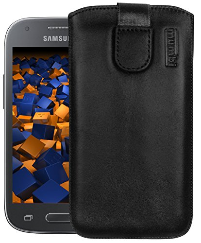 mumbi Echt Ledertasche kompatibel mit Samsung Galaxy Ace Style Hülle Leder Tasche Hülle Wallet, schwarz