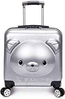 GLJJQMY Travel Suitcase Boarding Chassis Bear Cartoon Suitcase ABS+PC Material Universal Wheel Trolley 40x23x40cm Trolley case (Color : Orange, Size : 40x23x40cm)
