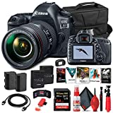 Canon EOS 5D Mark IV DSLR Camera with 24-105mm f/4L II Lens (1483C010) + 64GB Memory Card + Case + Corel Photo Software + LPE6 Battery + External Charger + Card Reader + HDMI Cable + More (Renewed)