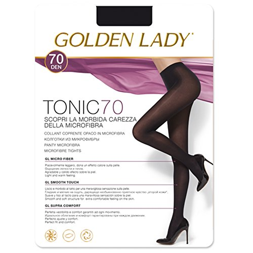 Golden Lady - Media Panty Mujer Color: Nero Talla: 3