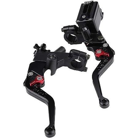 1 Paar Motorrad Brems Und Kupplungshebel Universal Bremskupplung Hauptbremszylinder Behälter 7 8 22mm Rot Auto