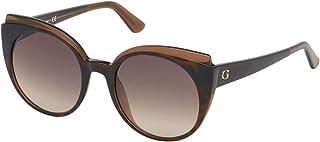Guess Cateye Women's Sunglasses, Havana with Brown Gradient Lenses GU7591F 56F Lens 53mm