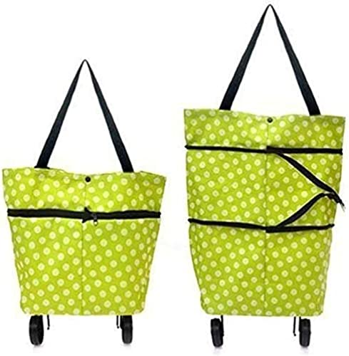 SiriusStar Hub Travelling Shopping Vegetable Grocery Foldable Trolley Luggage Bag with Multi Design with Wheels Multicolour