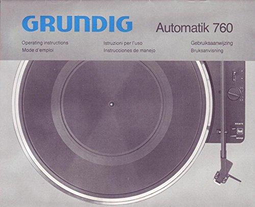 Grundig Automatik 760 - Plattenspieler Bedienungsanleitung