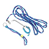 HEEPDD Criceto per criceti, guinzaglio per Animali Domestici di Piccola Taglia addestramento per Passeggiate a Piedi imbragatura con Collare a Campana per Criceto Nano Criceto(Blue & Purple)