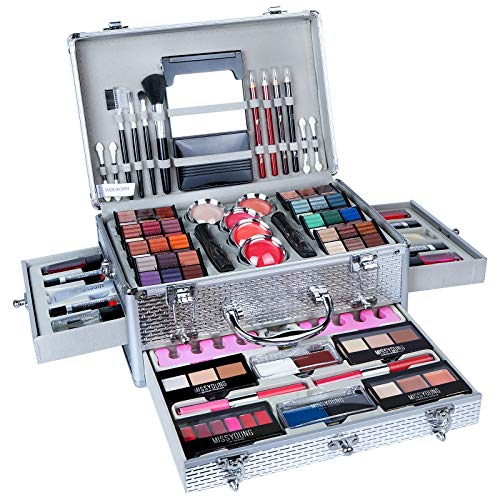 VolksRose All In One Makeup Kit Multi-Purpose Combination Makeup Surprise Gift Set Beauty Full Makeup Essential Starter Kit, Compact and Lightweight Design for Girls Women and Make Up Beginners
