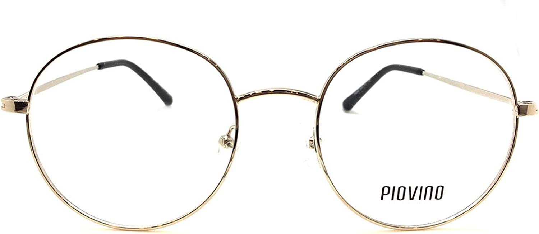 New Design Piovino RX Eyeglasses Frames Pv 5502 Silver Round Metal Frames