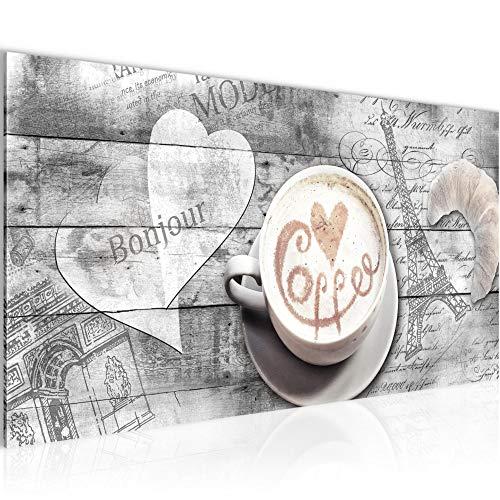 Bilder Küche Kaffee Wandbild 100 x 40 cm Vlies - Leinwand Bild XXL Format Wandbilder Wohnung Deko Kunstdrucke - MADE IN GERMANY - Fertig zum Aufhängen 012812c