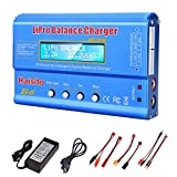 Lipo Charger, Professional Balance 80W 6A Charger for LiPo/Li-ion/Life/NiCd/NiMh Pb, Multi-Functional Intelligent Charger, RC Hobby Battery Balance Charger LED W/AC Power Adapter